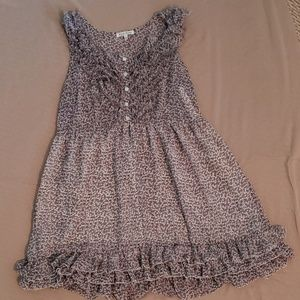Light Floral Ruffle Dress